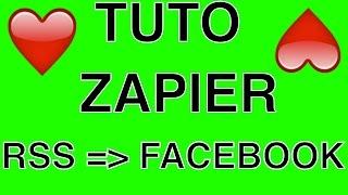 Tutoriel Zapier : RSS vers Facebook (envoyer les nouveaux produits 1TPE)