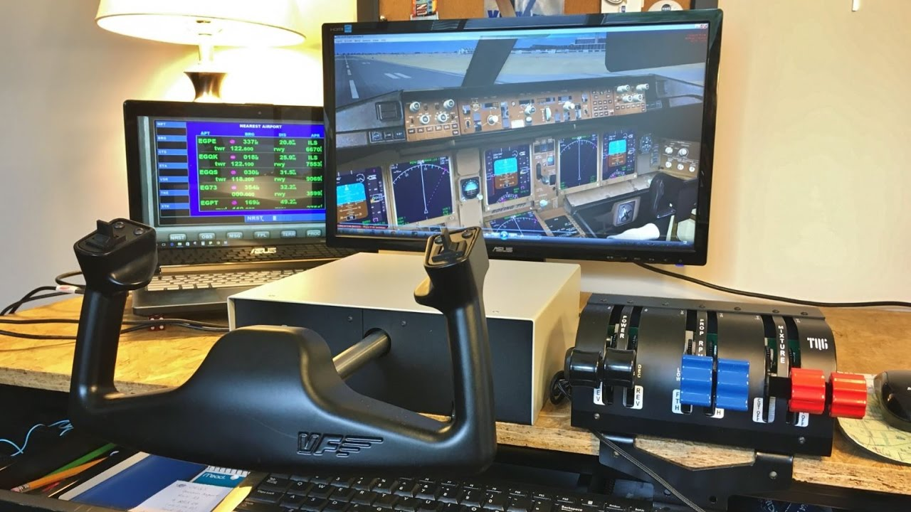 My Flight Sim Setup Virtualfly Tq6 Throttle Yoke