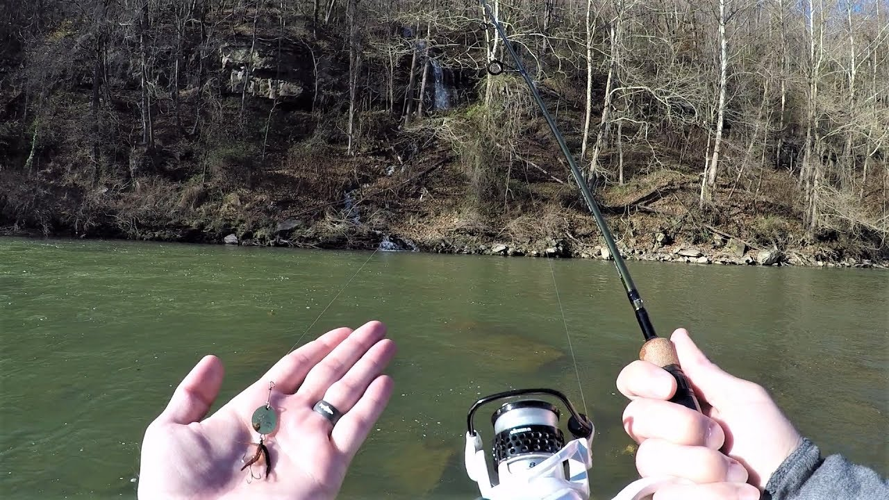 River TROUT Fishing with EPIC Spinner