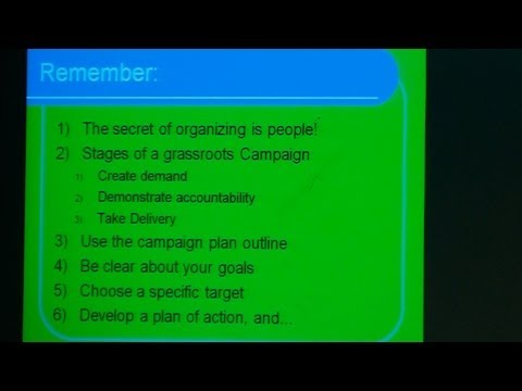 How a Few People Can Change the World   Designing Effective Campaigns
