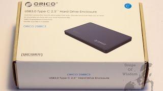 Orico 2588C3 USB 3.0 Type C HDD Enclosure Unboxing