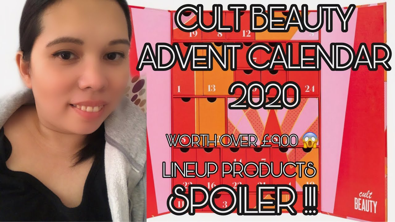 Spoiler Lineup Products Cult Beauty Advent Calendar 2020 Worth Over 900 Unboxingwithme Youtube