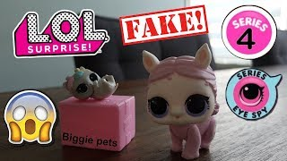 fake lol surprise serie 4 showpony en fake biggie pets. En uitslag winactie slijm, orbeez