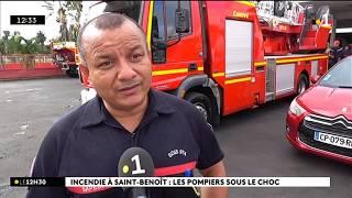 Incendie à Saint-Benoît : les pompiers sous le choc