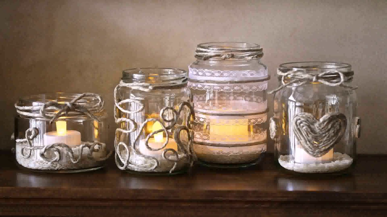 Diy Decorate Candle Jars - YouTube