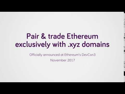 Pair & trade Ethereum exclusively with .xyz domains (Teaser)
