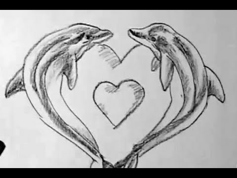 How to draw dolphin lovers | YZArts | YZArts - YouTube
