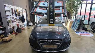현대자동차 그랜저IG 깨진 앞유리교체, 전면유리교환 수…