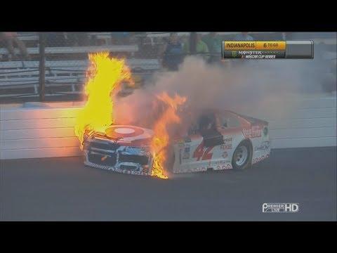 Monster Energy NASCAR Cup Series 2017. Indianapolis Motor Speedway. Kyle Larson Crash