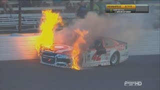 Monster Energy NASCAR Cup Series 2017. Indianapolis Motor Speedway. Kyle Larson Crash