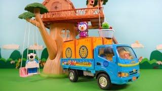 뽀로로 이사 가는 날! 포터트럭 타고 슝슝~!★뽀로로 장난감 애니