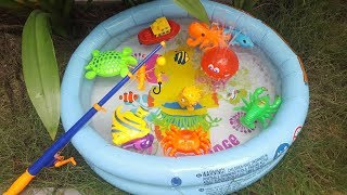 Sea Animals Name - Pretend fishing Ocean Water Creatures for kids, children, toddlers
