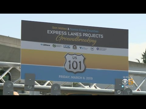 Construction Begins On Highway 101 Express Lanes In South Bay