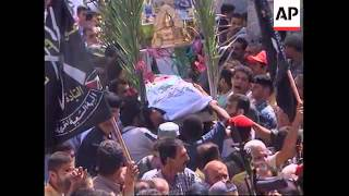 Funerals of Fatah activists killed in Thursday missile attack.
