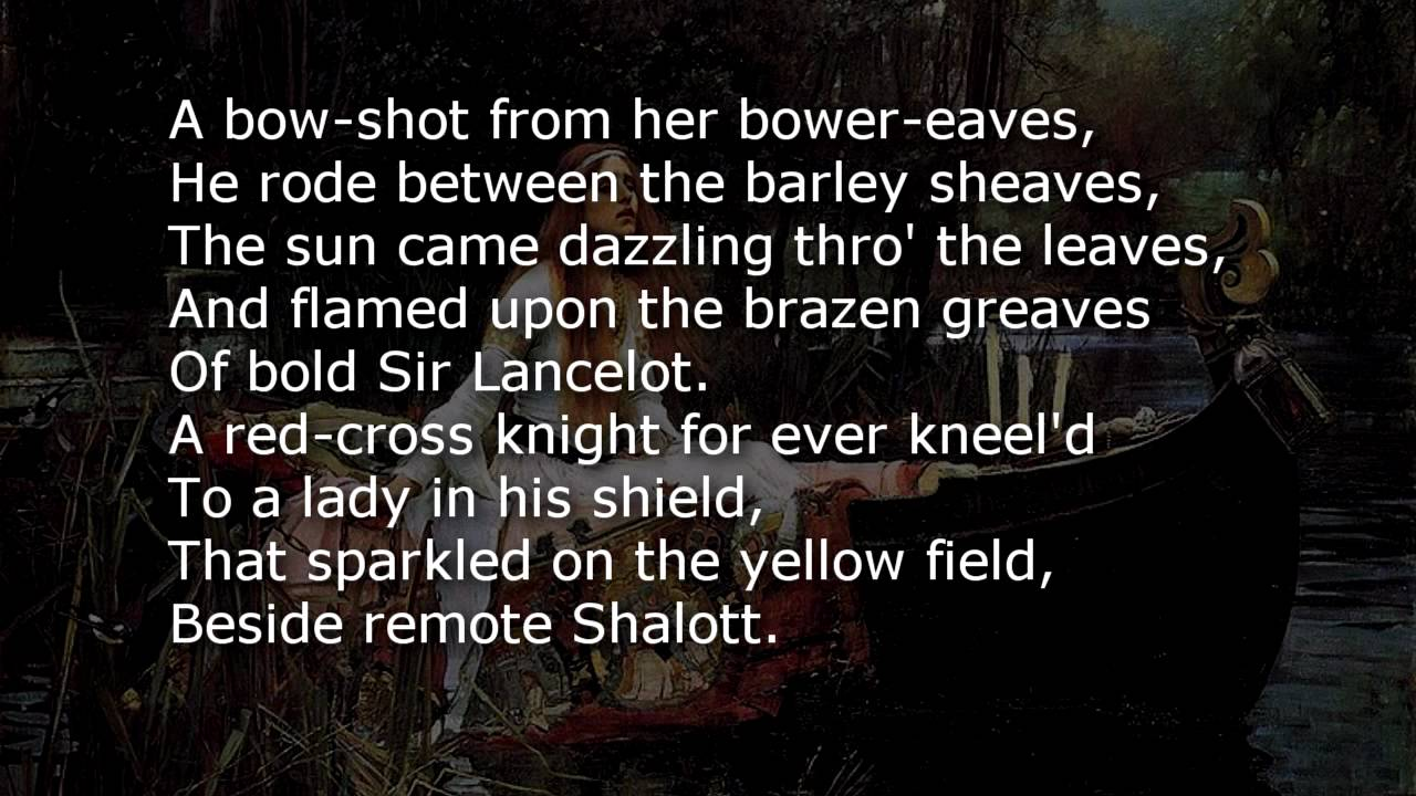 The Lady of Shalott ~ poem with text - YouTube