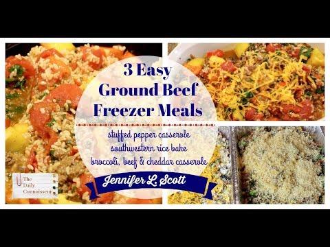 3 Easy Freezer Casseroles Using Ground Beef