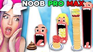 Noob vs MAX LEVEL in Yummy PANCAKE RUN!