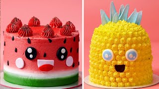 Best Watermelon Cake Ideas | How to Make Easy Fruitcake | Amazing Cake Decorating Tutorials