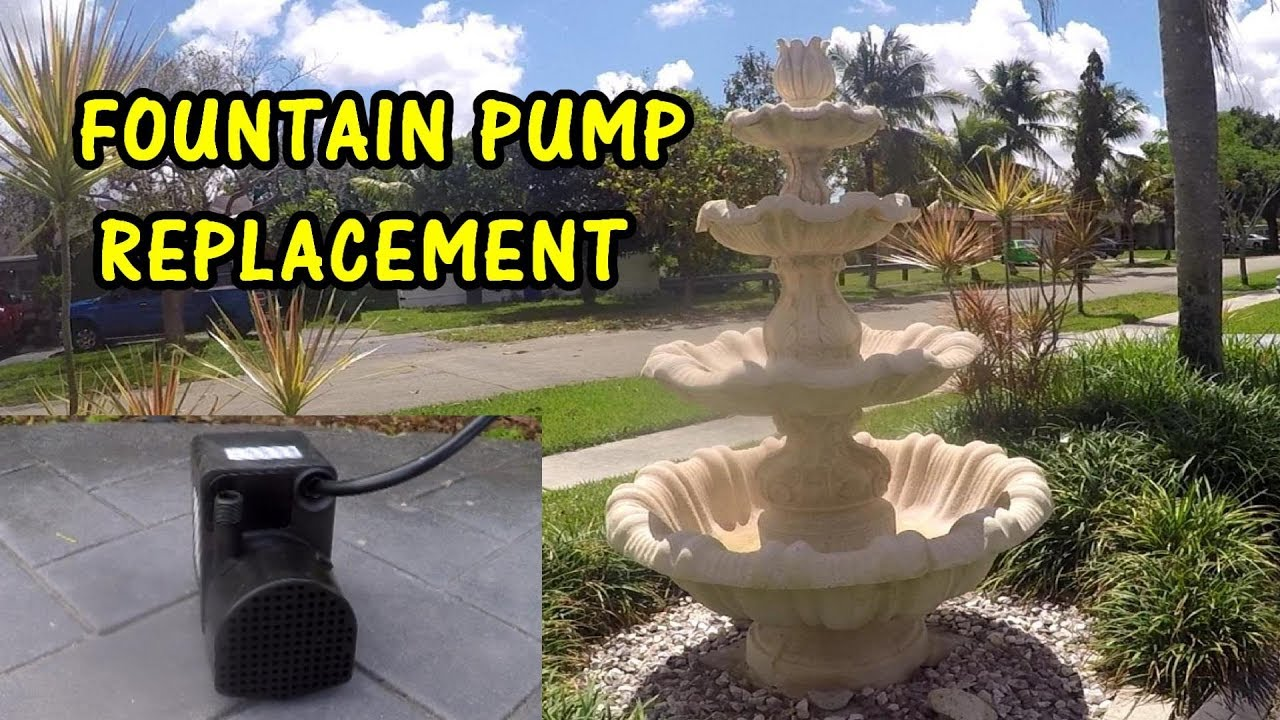 How To Replace A Fountain Water Pump, Outdoor Water Fountain Pump Repair