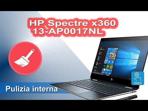 HP Spectre x360 - 13-AP0017NL smontaggio, pulizia interna e cambio pasta termica. - Cleaning
