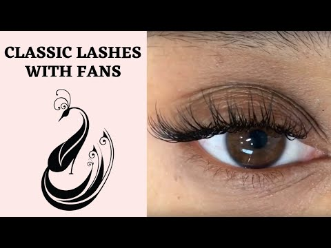 Eyelash Extensions Tutorial Classic Extensions With Very Few 3D Fans