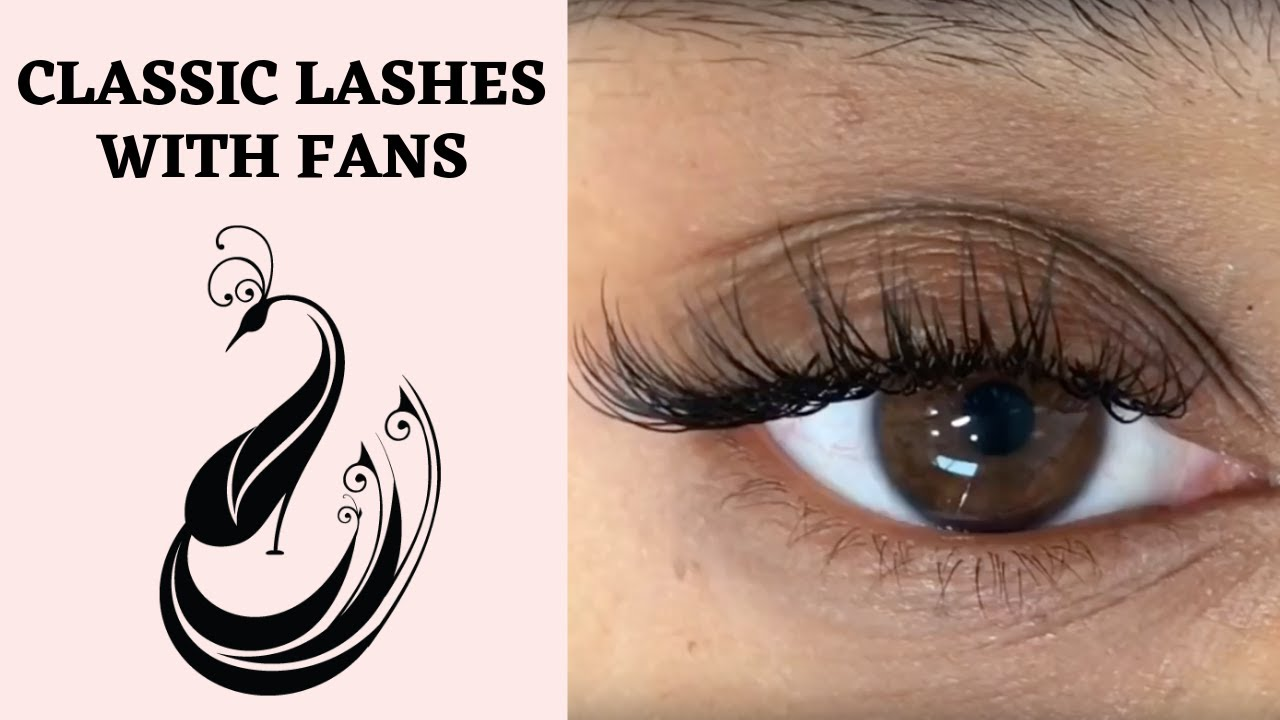 285f54fade3 Eyelash Extensions Tutorial Classic Extensions With Very Few 3D Fans ...