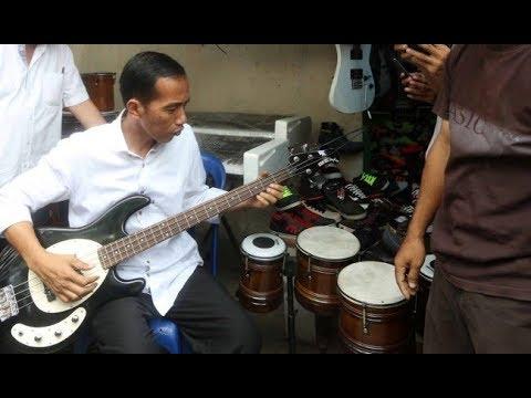 [2/2] Presiden Jokowi Feat Boomerang [ Pelangi ] Rock & RoLL - Fokus Baju Putih Bass