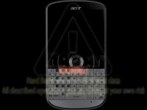 Tutorial Hard Reset Acer E130 BeTouch