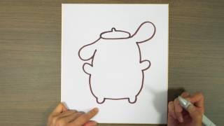 布甸狗手繪簡易教學︳01親子