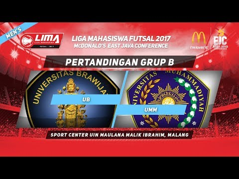 UB VS UMM di LIMA Futsal McDonald's East Java Conference 2017 (Men's)