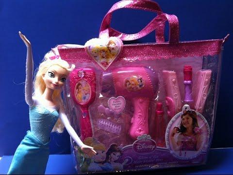 Bộ Đồ Chơi làm Tóc Cho Công Chúa Tuyết Elsa (Bí Đỏ) Disney Hair Styling Set With Elsa