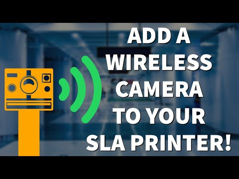 Add a wireless camera to your Anycubic Photon, Elegoo Mars, Epax X1 or any other SLA Resin Printer!
