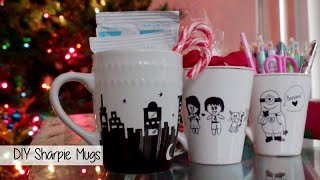Quick Last Minute Christmas Gift Idea l $1 Gift for Friends/Family l Simple DIY Project Sharpie Mug