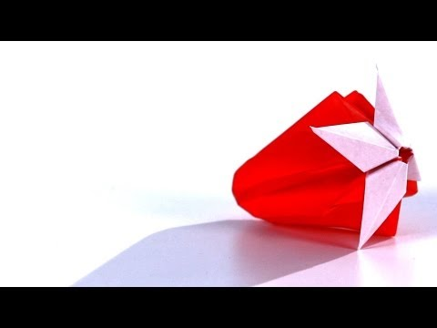How to Make a Strawberry | Origami