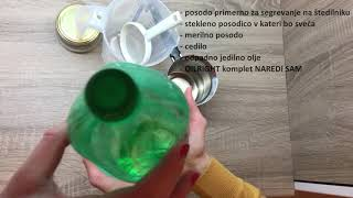 Kako naredimo svečo iz odpadnega jedilnega olja?