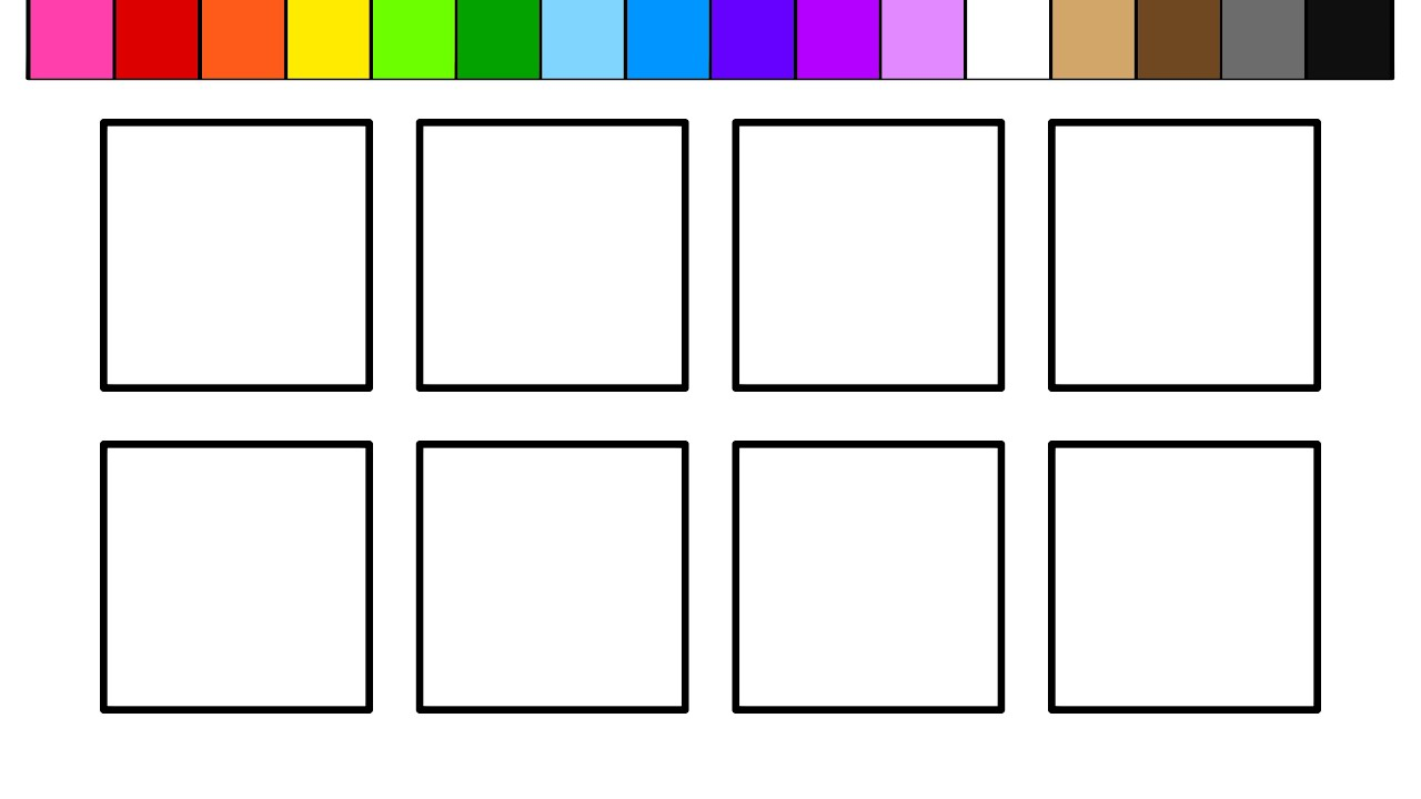 learn colors for kids and color squares coloring pages youtube