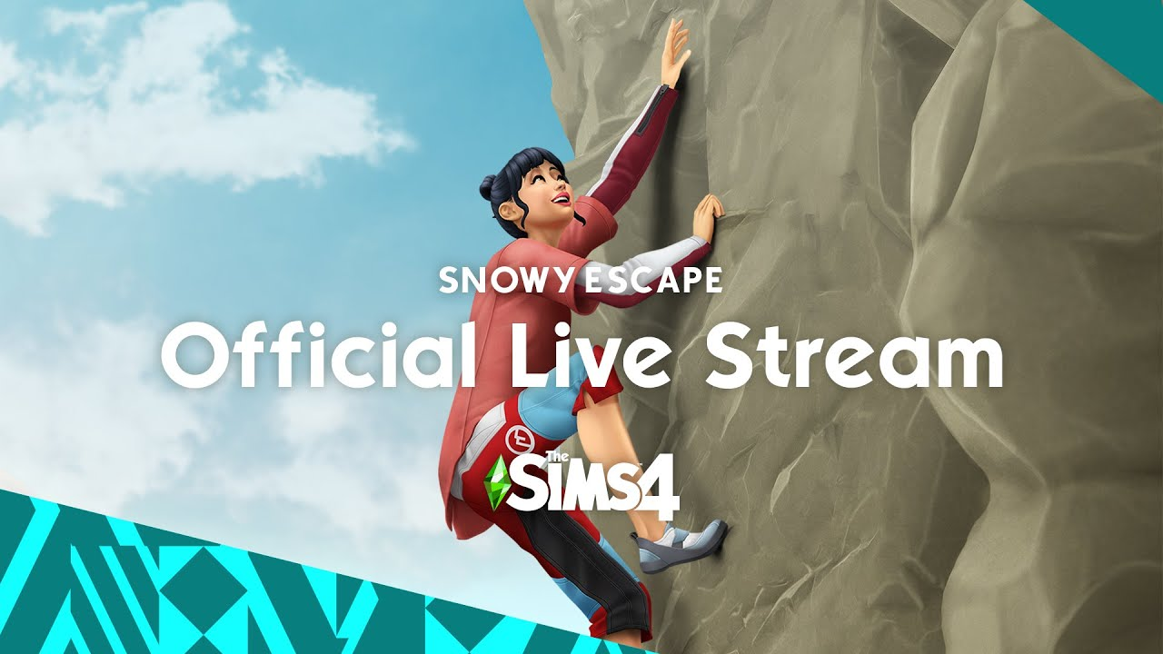 The Sims 4 Snowy Escape Livestream