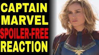 Captain Marvel Movie Reaction  (SPOILER-FREE)