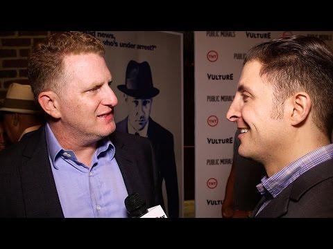 """Michael Rapaport at the """"Public Morals"""" Premiere with BTVRtv's Arthur Kade"""