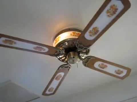 Scottys Hardware Floral Hugger Ceiling Fan