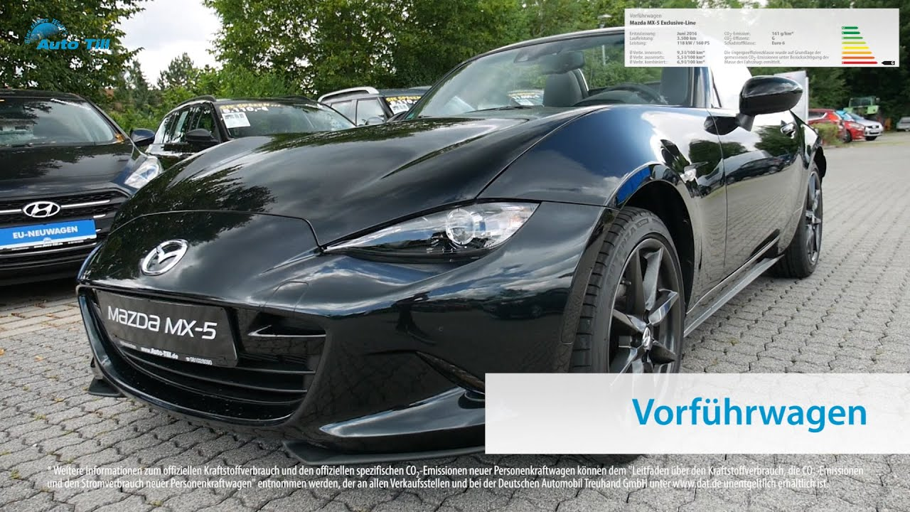 mazda mx 5 exclusive line vorf hrwagen m nchen bei auto till youtube. Black Bedroom Furniture Sets. Home Design Ideas
