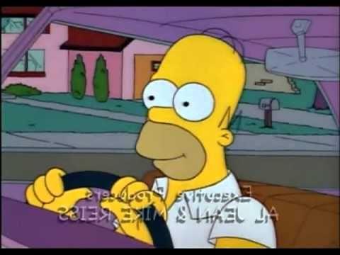 Homer Simpson imita i Flintstones