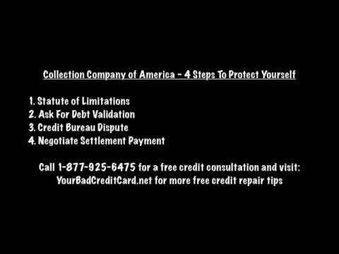 EOS CCA Collection Company of America - 4 Steps To Protect Yourself