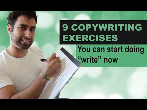 """9 Copywriting Exercises you can start doing """"write"""" now"""