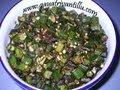 Bendakaya Vepudu - Lady's Finger / Okra Fry - Andhra Telugu Food