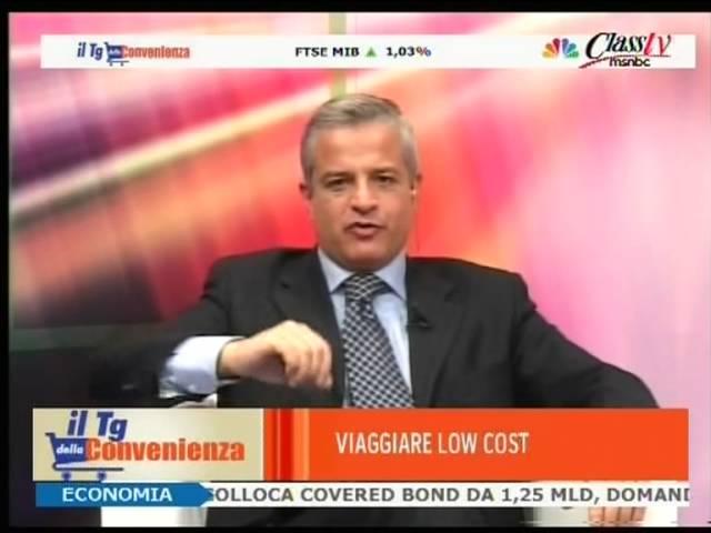 TG della Convenienza Class TV MSNBC  - intervento di Sandro Rossi di viaggiarelowcost.org