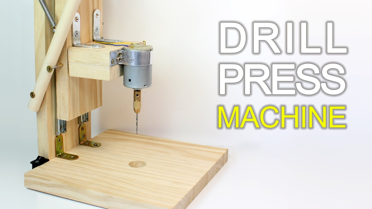 How To Make A Drill Press Machine Homemade Mini Drill