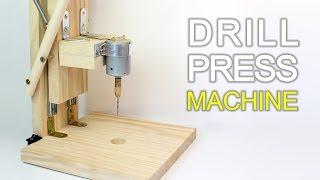 How to Make a Drill Press Machine | Homemade Mini Drill