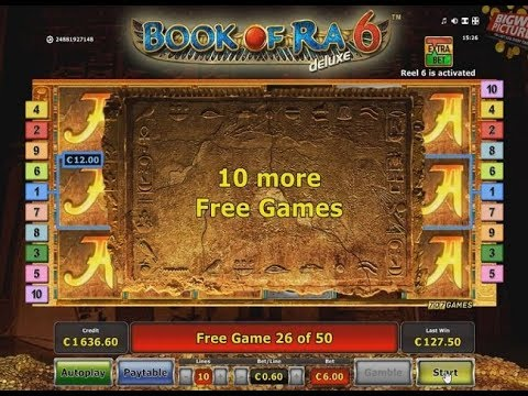 Book Of Ra 6 - 50 Free Spins (6€ Bet) BIG WIN!
