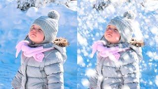 Как создать реалистичный снег в фотошопе?